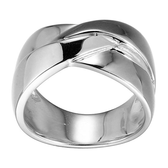 Womens 6.5MM Sterling Silver Band