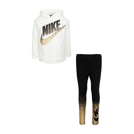 Nike Little Girls 2-pc. Logo Pant Set