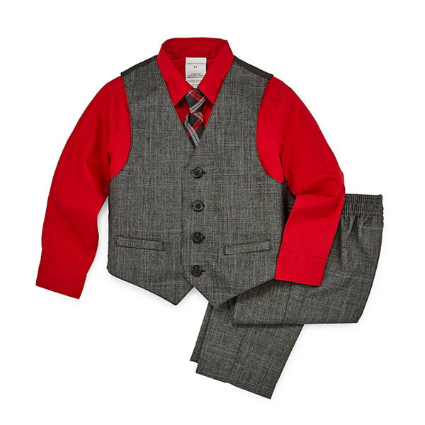 Van Heusen 4-pc. Vest Set Toddler Boys