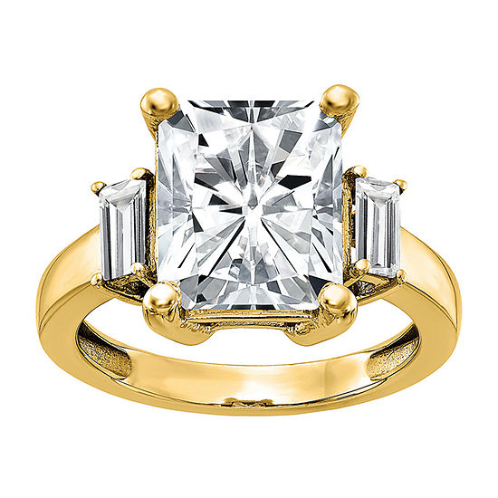 True Light Womens 4 CT. T.W. Lab Created White Moissanite 14K Gold Engagement Ring