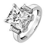 True Light Womens 4 1/2 CT. T.W. Lab Created White Moissanite 14K White Gold Engagement Ring
