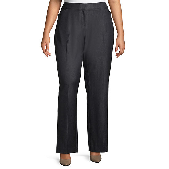 Worthington Womens Curvy Fit Trouser - Plus