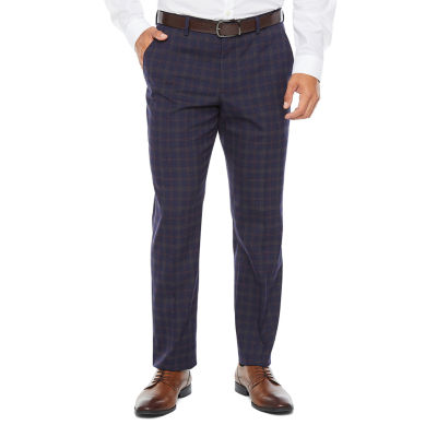 JF J.Ferrar Plaid Super Slim Fit Stretch Suit Pants