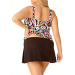 Liz Claiborne Paisley Tankini Swimsuit Top or Swimsuit Bottom-Plus