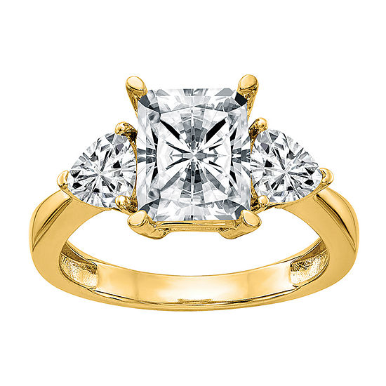 True Light Womens 3 1/4 CT. T.W. Lab Created White Moissanite 14K Gold Engagement Ring