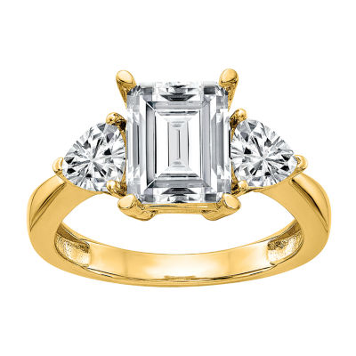 True Light Womens 6 CT. T.W. Lab Created White Moissanite 14K Gold Engagement Ring