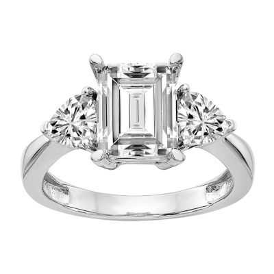 True Light Womens 6 CT. T.W. Lab Created White Moissanite 14K White Gold Engagement Ring