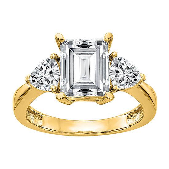 True Light Womens 5 1/4 CT. T.W. Lab Created White Moissanite 14K Gold Engagement Ring