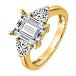 True Light Womens 5 1/4 CT. T.W. Lab Created White Moissanite 14K Gold Engagement Ring