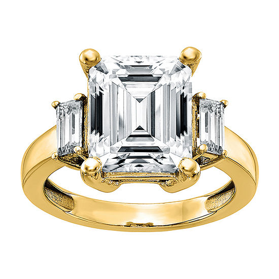 True Light Womens 3 1/2 CT. T.W Lab Created White Moissanite 14K Gold Engagement Ring
