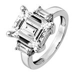 True Light Womens 4 CT. T.W. Lab Created White Moissanite 14K White Gold Engagement Ring