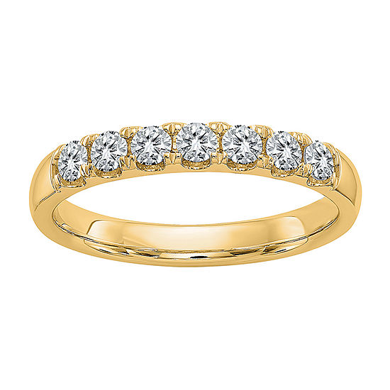True Light 3MM 3/8 CT. T.W. Lab Created White Moissanite 14K Gold Band