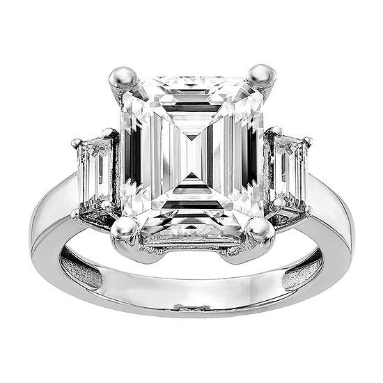True Light Womens 5 CT. T.W. Lab Created White Moissanite 14K White Gold Engagement Ring