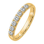 True Light Womens 2.5MM 1/2 CT. T.W. Lab Created White Moissanite 14K Gold Band