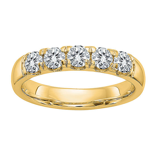 True Light 3.5MM 1 1/4 CT. T.W. Lab Created White Moissanite 14K Gold Band