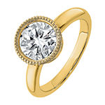 True Light Womens 2 1/4 CT. T.W. Lab Created White Moissanite 14K Gold Engagement Ring
