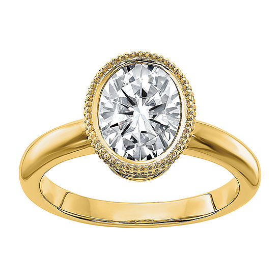 True Light Womens 2 3/4 CT. T.W. Lab Created White Moissanite 14K Gold Engagement Ring