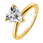 True Light Womens 1 5/8 CT. T.W. Lab Created White Moissanite 14K White Gold Solitaire Engagement Ring
