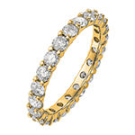 True Light Womens 2 1/3 CT. T.W. Lab Created White Moissanite 14K Gold Eternity Band