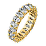 True Light Womens 5MM 5 CT. T.W. Lab Created White Moissanite 14K Gold Eternity Band