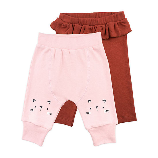 Mac And Moon Kitty Baby Girls 2-pc. Pull-On Pants