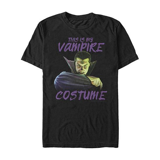 Universal Monsters This Is My Vampire Costume Mens Crew Neck Short Sleeve Graphic T-Shirt