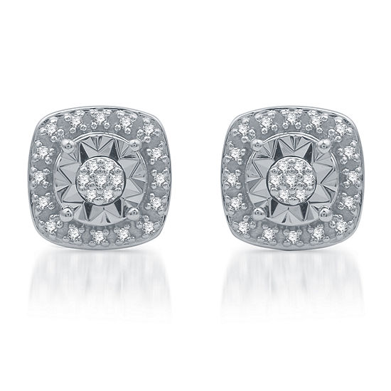 LIMITED TIME SPECIAL! 1/10 CT. T.W. Genuine Diamond Sterling Silver Stud Earrings