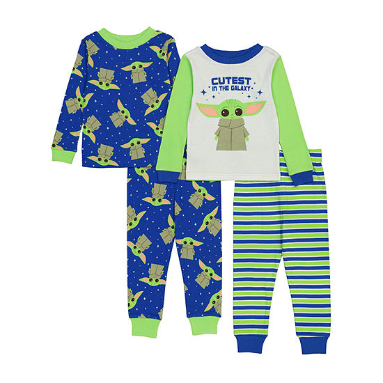 Disney Collection Toddler Boys 4-pc. Pajama Set
