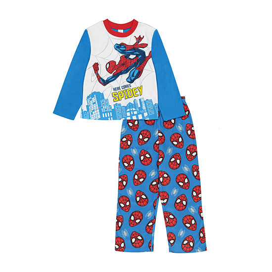 Disney Little & Big Boys 2-pc. Spiderman Pant Pajama Set