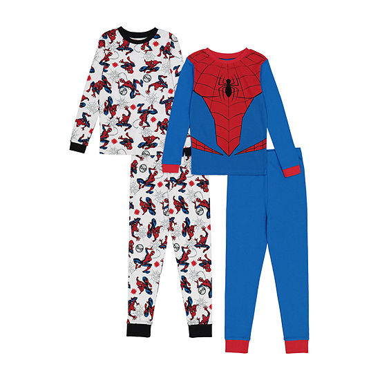 Disney Little & Big Boys 4-pc. Spiderman Pajama Set