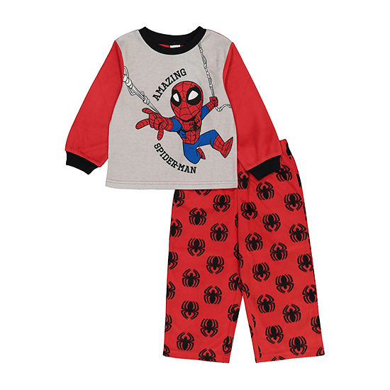 Disney Toddler Boys 2-pc. Spiderman Pant Pajama Set