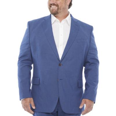 JF J.Ferrar Ultra Comfort Mens Stretch Classic Fit Suit Jacket-Big and Tall