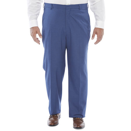 1950s Men's Pants, Trousers, Shorts | Rockabilly Jeans, Greaser Styles JF J.Ferrar Ultra Comfort Mens Stretch Classic Fit Suit Pants - Big and Tall 42 34 Blue $44.99 AT vintagedancer.com