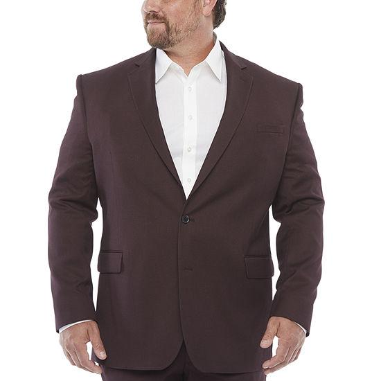 JF J.Ferrar Ultra Stretch Mens Stretch Classic Fit Suit Jacket-Big and Tall