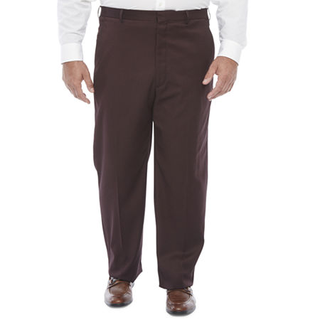 Men's Vintage Pants, Trousers, Jeans, Overalls JF J.Ferrar Ultra Stretch Mens Regular Fit Suit Pants - Big and Tall 42 34 Red $44.99 AT vintagedancer.com
