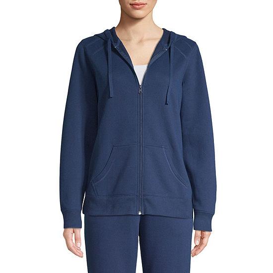 St. John's Bay Womens Long Sleeve Fleece Hoodie