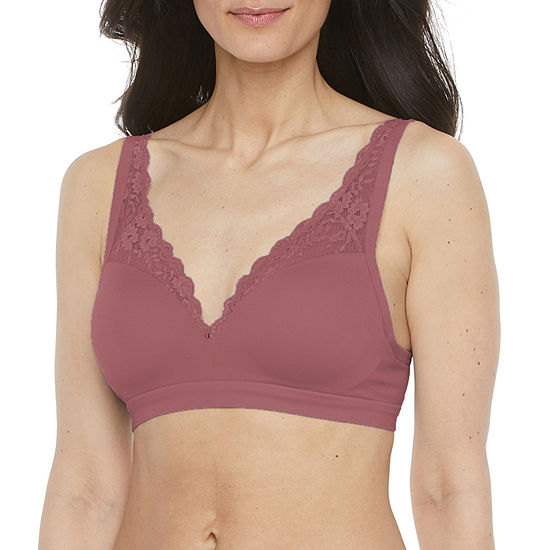 Ambrielle Seamless Padded Wireless Push Up Full Coverage Bra-J8512