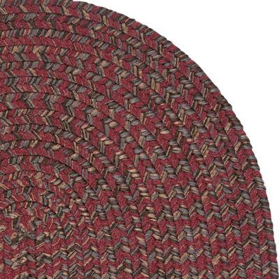 colonial mills grafton braided wool-blend tweed rug