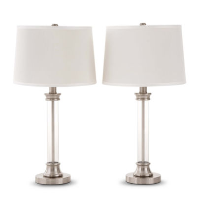 JCPenney Home™ Set of 2 Acrylic Column Table Lamps