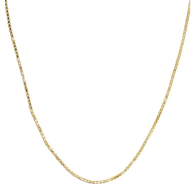 14K Yellow Gold Hollow Box Chain