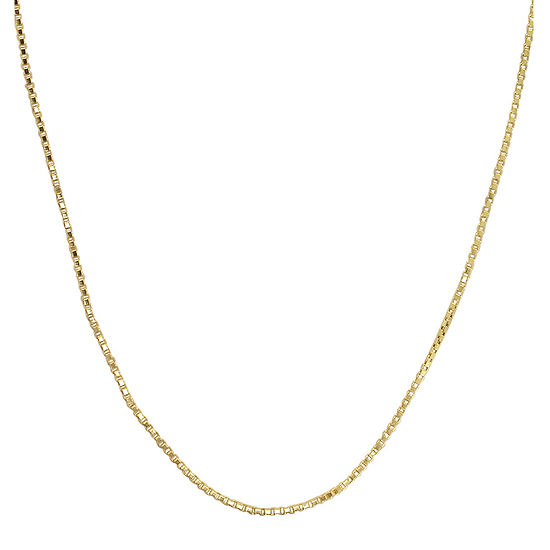 Made in Italy 14K Yellow Gold Hollow Box Chain