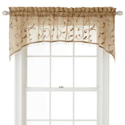 Royal Velvet® Harmon Rod-Pocket Sheer Arch Valance