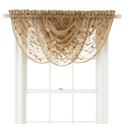 Royal Velvet® Harmon Rod-Pocket Sheer Waterfall Valance