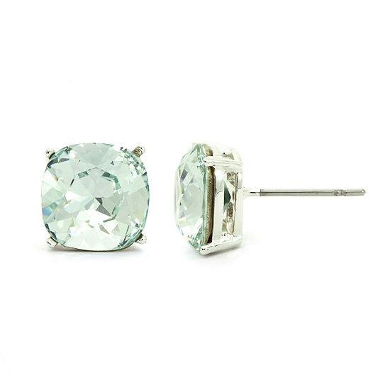 Sparkle Allure Crystal 10.1mm Round Stud Earrings