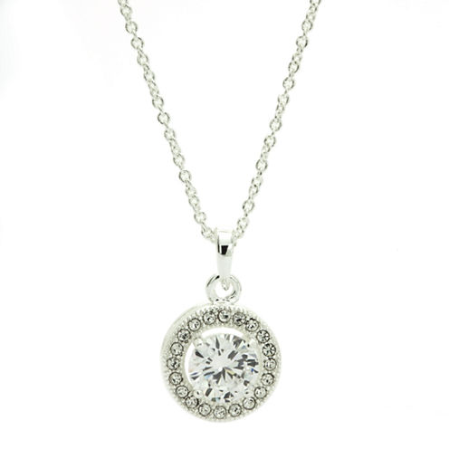 Sparkle Allure White Pendant Necklace