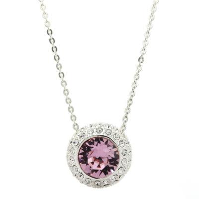 Sparkle Allure Pink Pendant Necklace