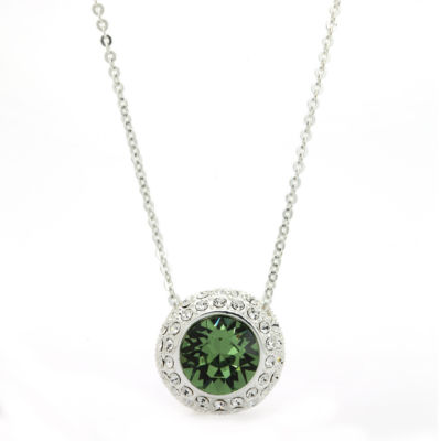 Sparkle Allure Green Pendant Necklace