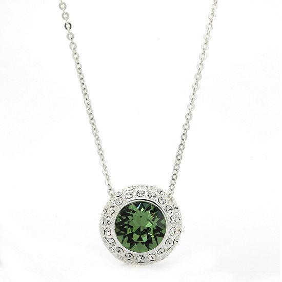 Sparkle Allure Green Cable Pendant Necklace