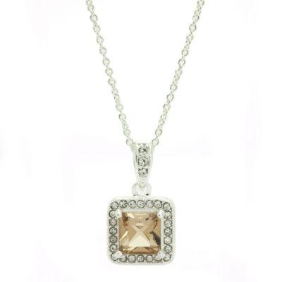 Sparkle Allure Brown Pendant Necklace