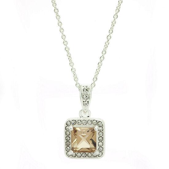 Sparkle Allure Brown Cable Pendant Necklace